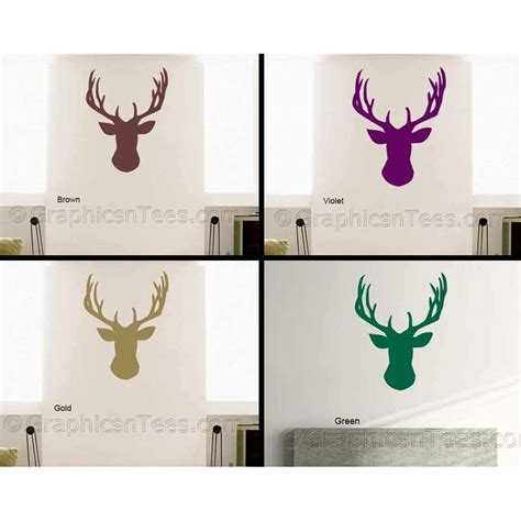 stag head home decor stags head home decor stags head wall sticker vinyl wal