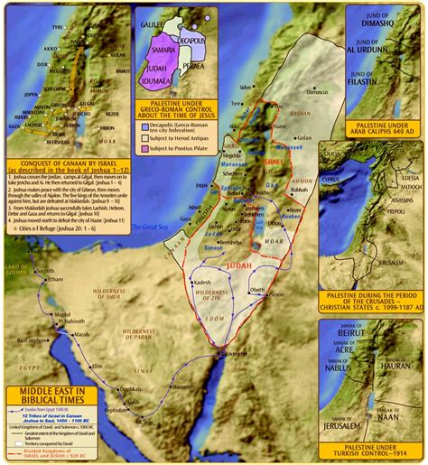 middle east map bible times palestine in biblical times map