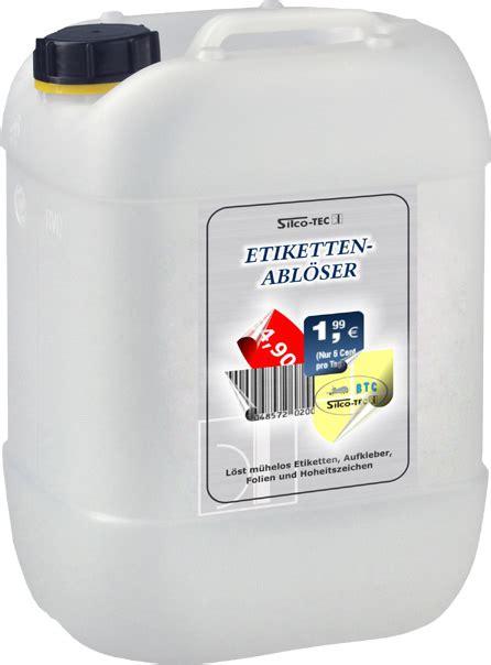 Eingetrocknete Aufkleber Entfernen reinigungsmittel industrie btc linke silco tec gmbh