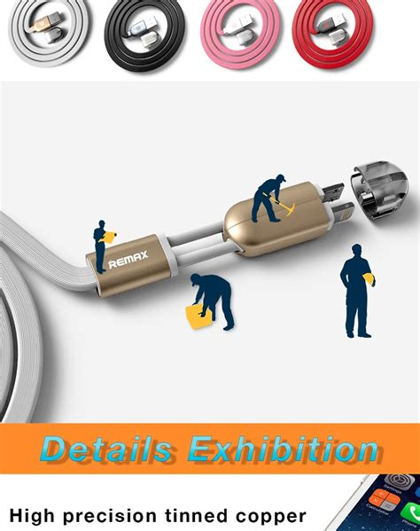 Kabel Data Remax Gemini Magnet Cable 2 In 1 Pink remax gemini 2 in 1 magnetic micro usb data cable view usb cable remax product details from