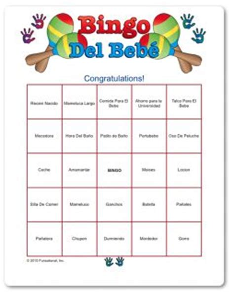 printable baby shower games in spanish free printable baby shower bingo in spanish classic