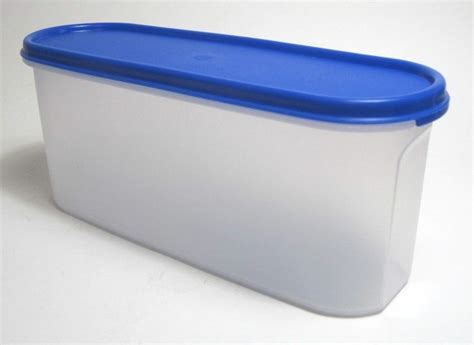 Tupperware Food Storage Container Modular Mates Oval Blue