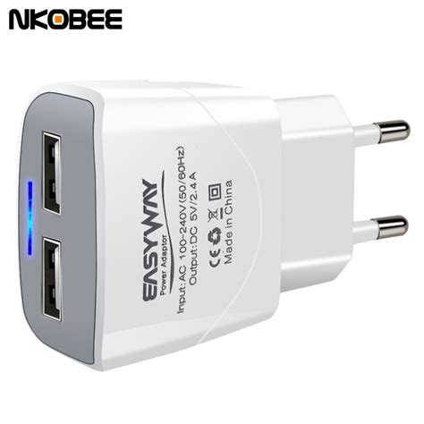 Travel Charger Adapter Oppo 2 Usb Led nkobee 5v2 4a led 2 port ᗔ usb usb charger universal travel usb adapter adapter portable eu