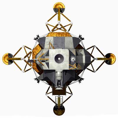 Lem Df 74 3ds lunar landing module