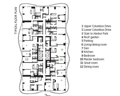 tower chicago floor plans solaripedia green architecture building projects in