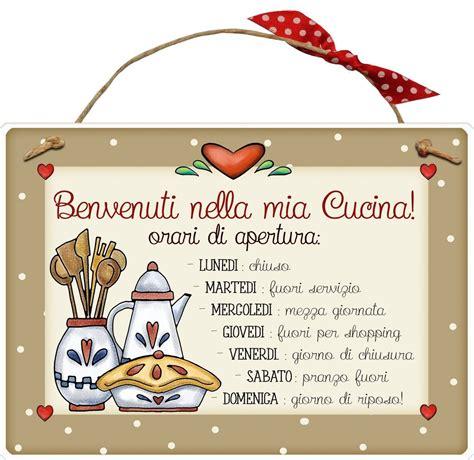 italiano cucina targhetta rettangolare in legno quot benvenuti nella