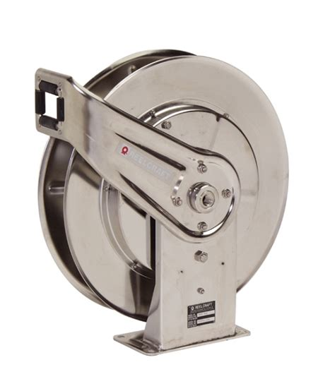 retractable stainless steel cable reel reelcraft 7800 ols retractable hose reel 1 2 x 50ft 500