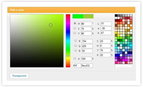 jquery color 12 best javascript color picker plugins on air code
