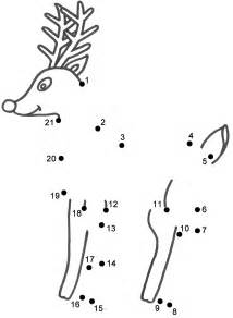 Rudolph the red nosed reindeer connect the dots count by 1 s