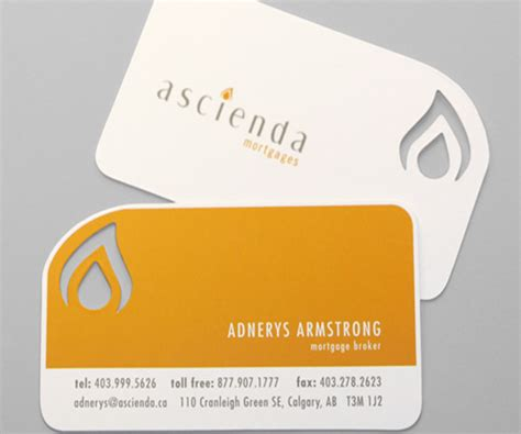 Where To Cut On Business Card Template by Die Cut Business Cards Halo Design Studios
