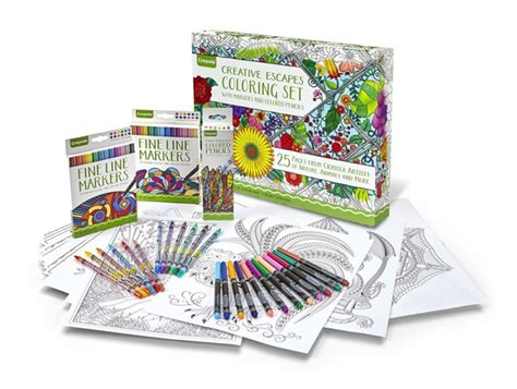 coloring books for adults crayola crayola coloring book 40 line marker set for