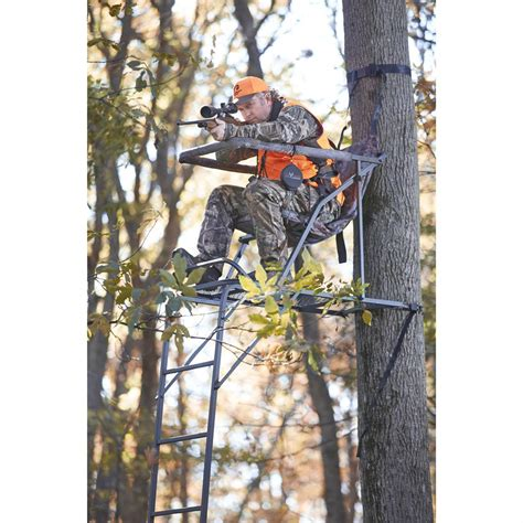 guide gear extreme comfort tree stand guide gear 17 extreme comfort ladder tree stand 220009