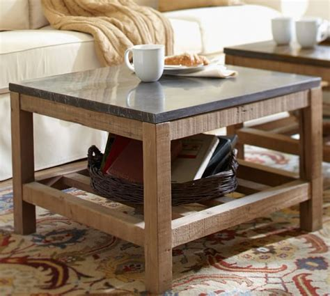 Connor Coffee Table Limestone Pottery Barn Potterybarn Coffee Table