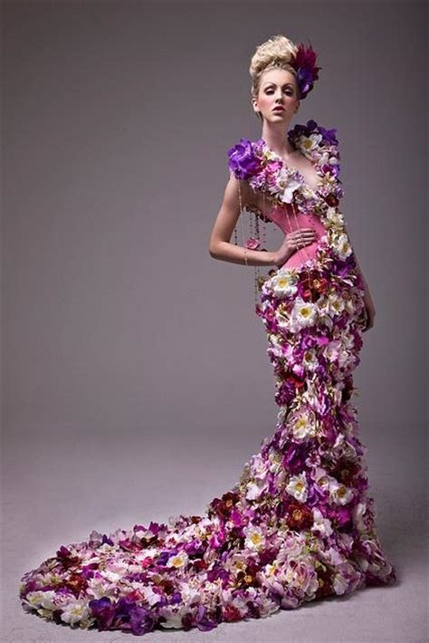Flower Dress dress a unique real floral wedding dress 2040296 weddbook