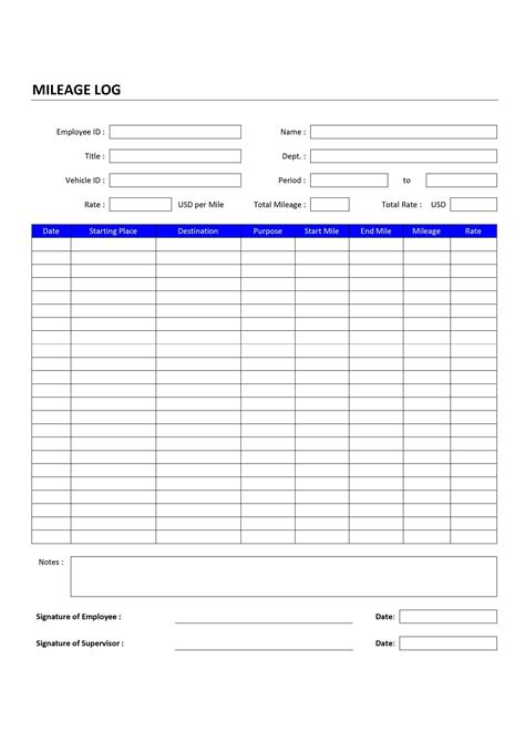 gas mileage log template log word templates free word templates ms word