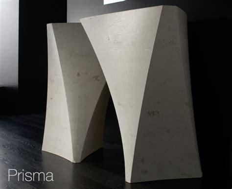 prisma form moderne design waschbecken bandini skulpturale
