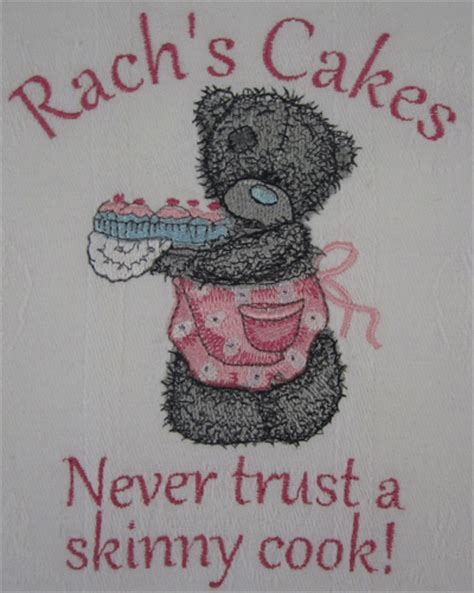 Kitchen Towel Embroidery Designs Kitchen Towel With Teddy Machine Embroidery Design For Day