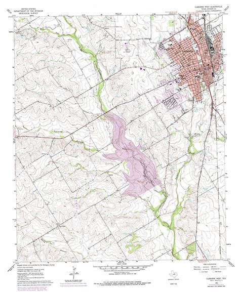 map of cleburne texas cleburne west topographic map tx usgs topo 32097c4