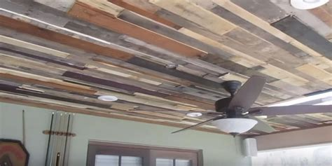 diy rustic and stunning reclaimed wood ceiling adds