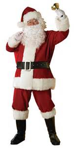 father christmas santa claus mens fancy dress costume suit