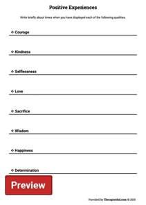 positive self esteem worksheets davezan