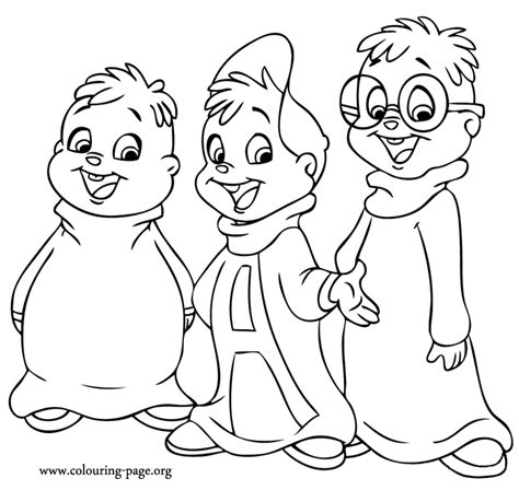 Alvin And The Chipmunks Alvin And The Chipmunks Simon Alvin And The Chipmunks Coloring Pages