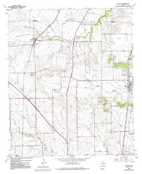 keller texas map keller topographic map tx usgs topo 32097h3