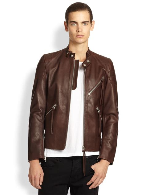 brown motorcycle jacket mens brown motorcycle leather jacket coat nj