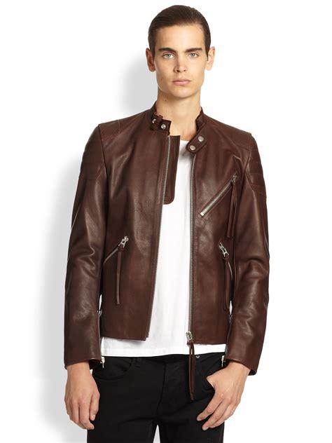 mens brown biker mens brown motorcycle leather jacket coat nj