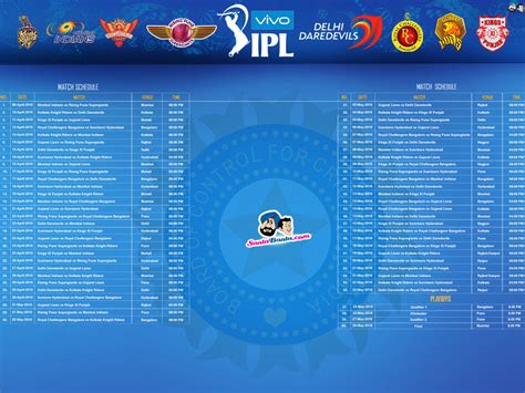 2017 vivo ipl wallpaper vivo ipl 2017 match list photo holidays oo