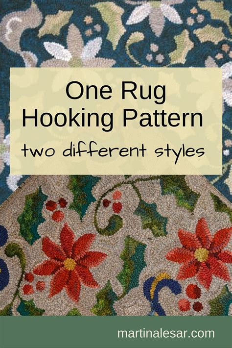 rug hooking classes rug hooking classes one rug hooking pattern two different styles martina lesar harrisville