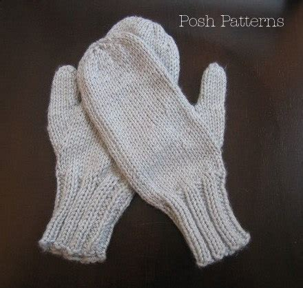 knitted mittens on 2 needles knitting patterns easy two needle mittens pattern mittens