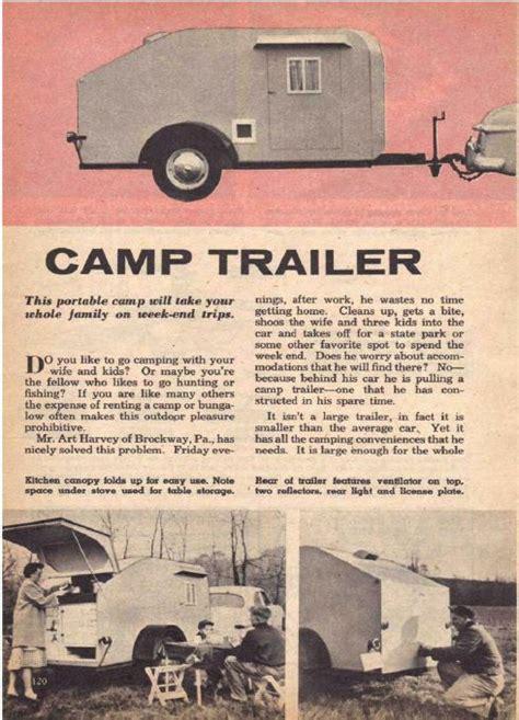 learn   build  antique trailer camper plans