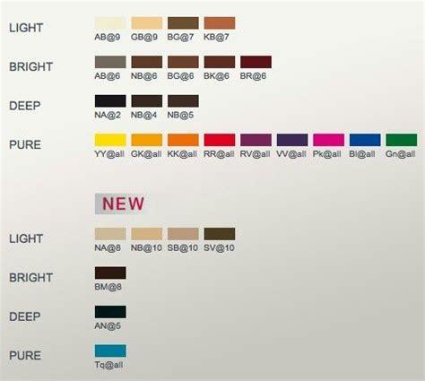 elumen colors elumen color chart goldwell colour chart