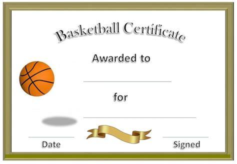 Basketball Award Certificate To Print Blank Certificate Templates Basketball Awards Basketball Award Templates