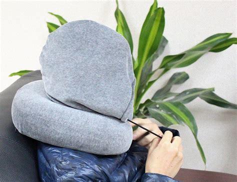 Bantal Unik bantal leher unik dengan penutup kepala tidur di mobil