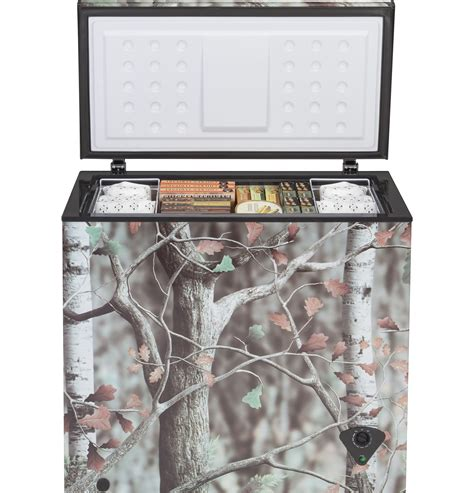 ge  cu ft camouflage manual defrost chest freezer