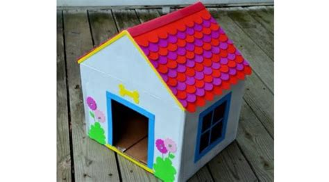 how do you make a dog house how to make a doghouse from recycled cardboard green