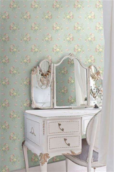 Light Blue Wallpaper Bedroom Light Blue Floral Bouquet Wallpaper Traditional Bedroom Other By Brewster Home Fashions