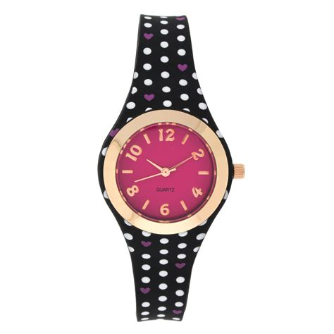 black rubber jewelry watches