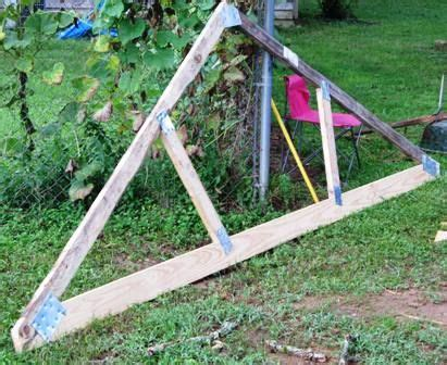 build  simple wood truss homestead building  shed