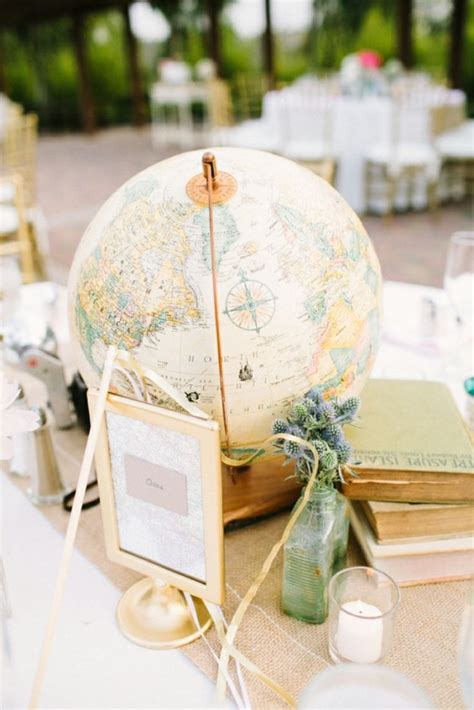 travel themed centerpiece ideas 25 travel themed wedding or ideas brit co