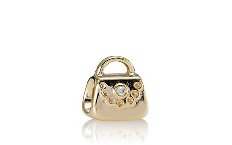 pandora charm 14k gold purse 01 ct t w