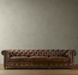 Restoration Hardware Leather Sofas Copy Cat Chic Restoration Hardware Kensington Chesterfield Leather Sofa