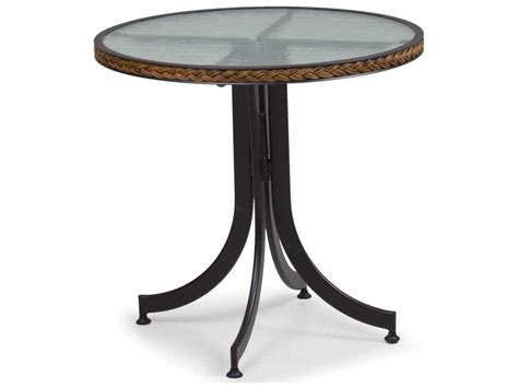 Glass Bistro Table Palm Springs Rattan Aluminum 3200 Series 28 Black Bistro Table W Glass Top 3228