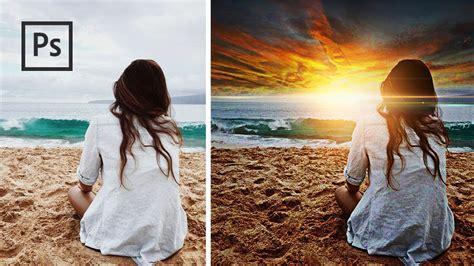 cara edit foto sunset photoshop cara mengedit foto agar lebih berwarna sunset dramatic