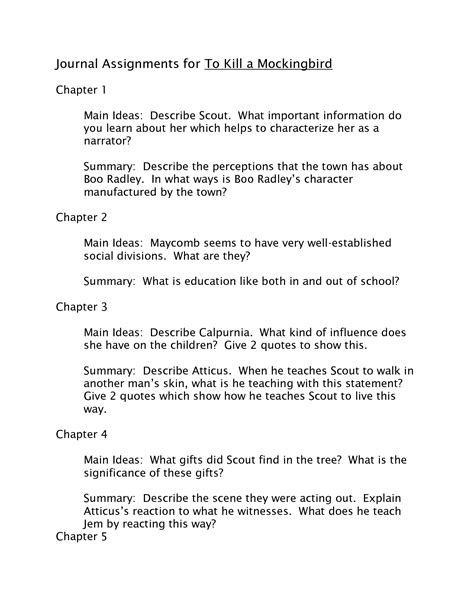 themes of to kill a mockingbird chapter 2 to kill a mockingbird quotes chapter quotesgram