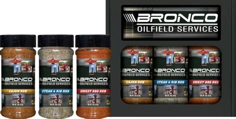 3r8 3pk half pint rub set bronco oilfield services