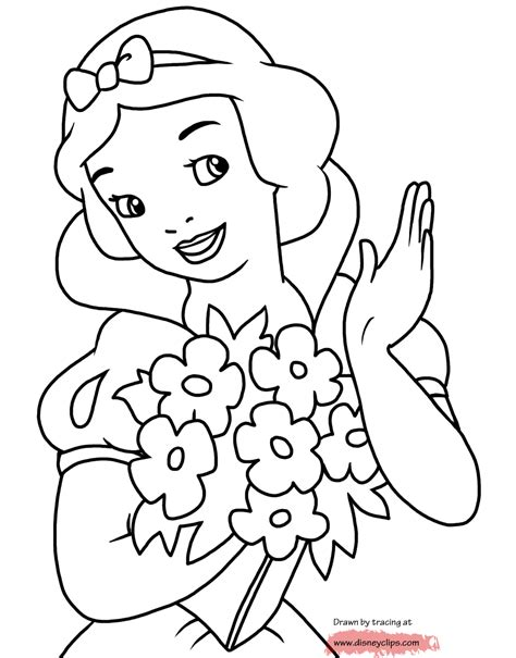coloring book pictures to print disney snow white printable coloring pages disney
