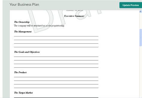 business plan templat 10 free business plan templates for startups wisetoast